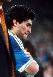 Maradona crying