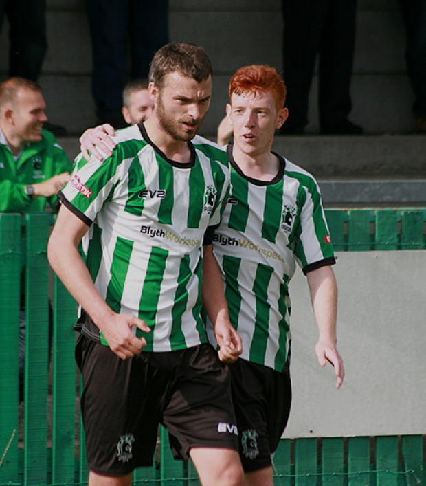 Blyth Spartans skipper Robbie Dale (left). Picture by Bill Broadley